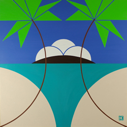 Tropical Abstract Design #8 (Flat)