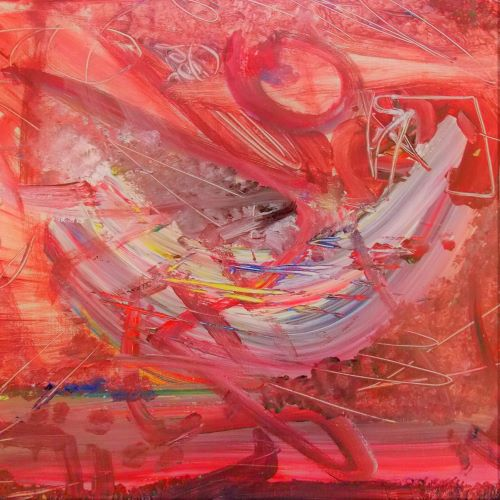 BLACK & WHITE& RED ALL OVER ART~DESIGN