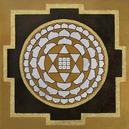 Painted Prayers - Wealth Yantra. Small J-PEG