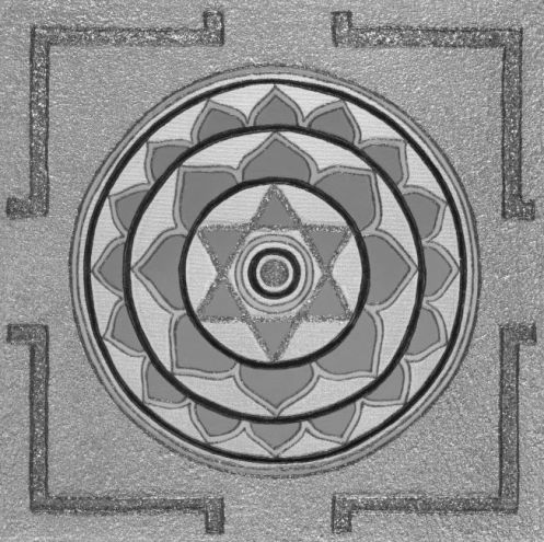 Painted Prayers - Enlightenment Yantra.Small (B&W) J-PEG