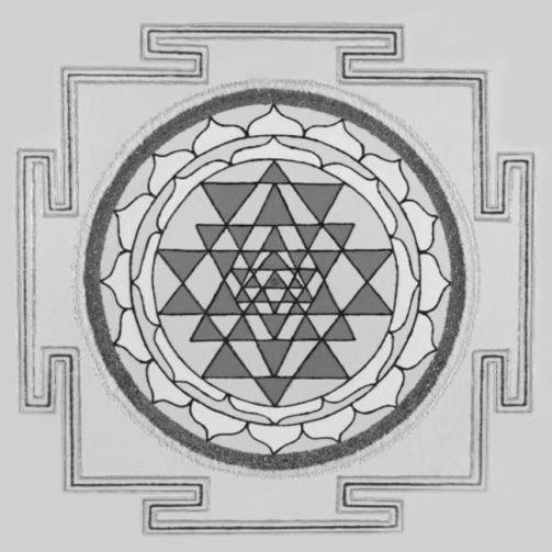 Painted Prayers - Health Yantra.Small (B&W) J-PEG