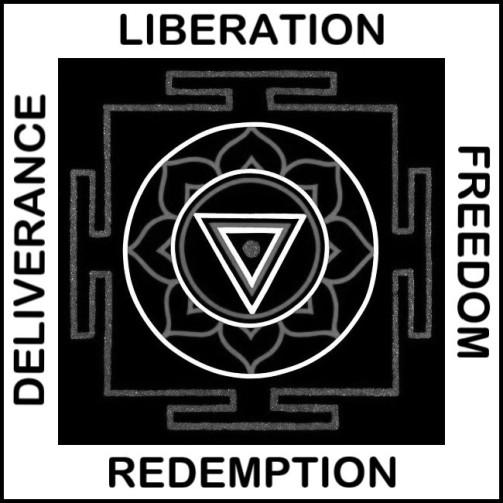 Painted Prayers - Liberation Yantra.Small (B&W) J-PEG