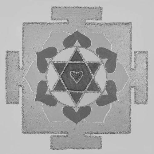 Painted Prayers - Love Yantra.Small (B&W) J-PEG