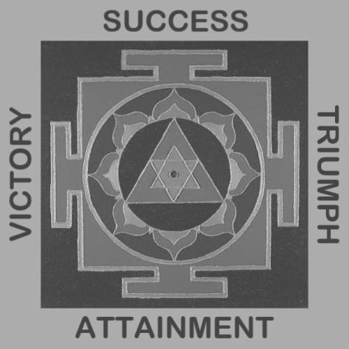 Painted Prayers - Success Yantra.Small (B&W) J-PEG