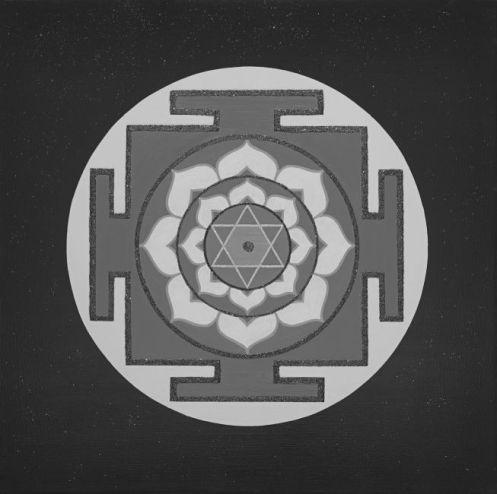 Painted Prayers - Wisdom Yantra.Small (B&W) J-PEG