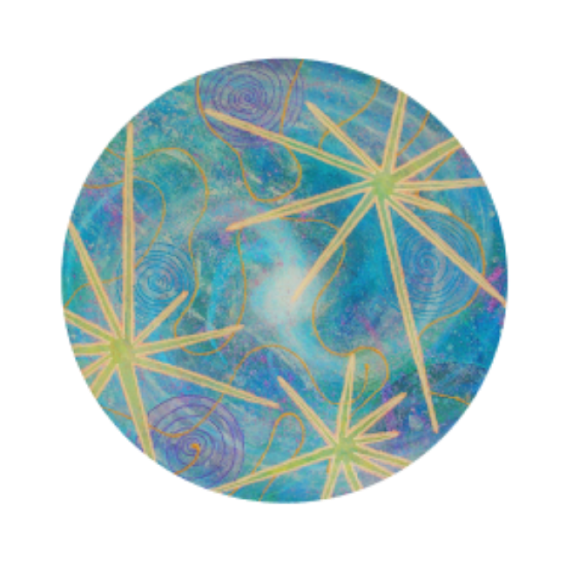 Star Burst Universe (Circle) (Transparent) PNG