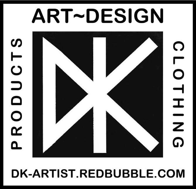 DK LOGO - small - Redbubble -w-border